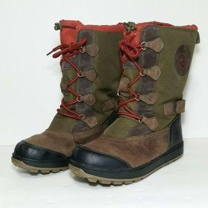 Timberland Holderness Mukluk boys boots green/brn